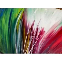 Tableau abstrait Explosion de couleur