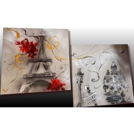 Tableau abstrait Paris