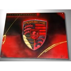 Tableau Porsche rouge