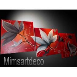 Tableau fleur rouge