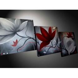 Tableau fleur blanche