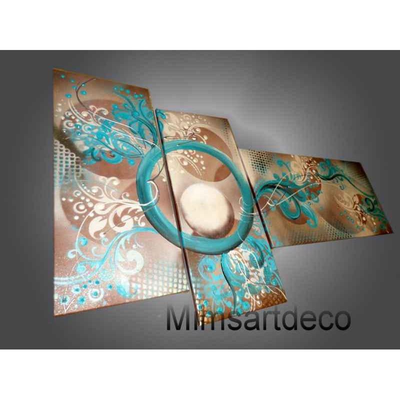 Tableau baroque bleu