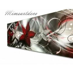 Tableau floral rouge / Blanc