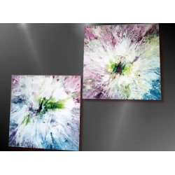 Tableau abstrait, fluid art