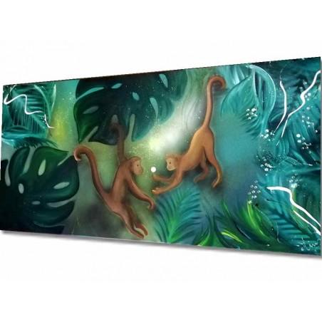Tableau peinture sur toile singe