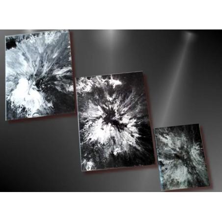 Tableau abstrait unique- noir et blanc