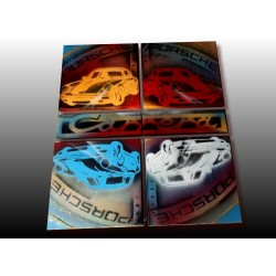 Tableau Pop art Porsche