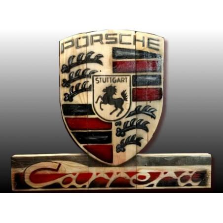Tableau Porsche sur bois