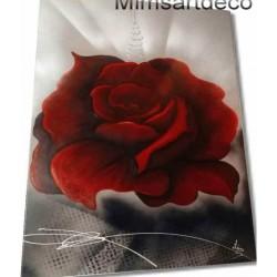 Tableau rose rouge xxl