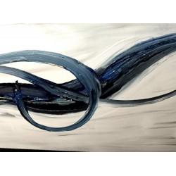 tableau épuré bleu