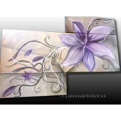 Tableau abstrait fleur de lys
