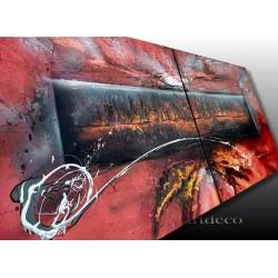 Tableau abstrait unique peint a la bombe