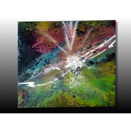 Tableau abstrait  peint a la bombe
