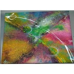 Tableau abstrait peint a la bombe technique originale et unique