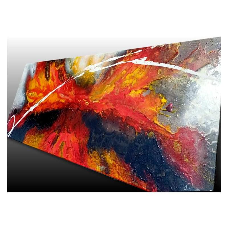 Tableau abstrait unique, bombe de peinture