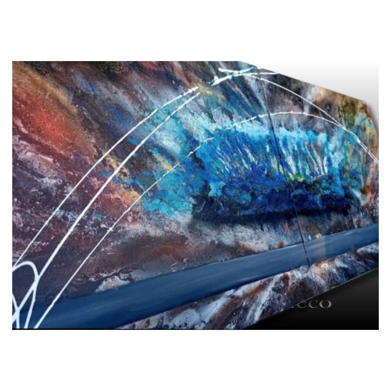 Tableau abstrait moderne bleu