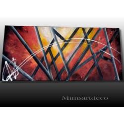 Peinture abstraite moderne rouge, art abstrait