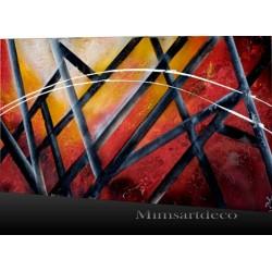 tableau effet de profondeur, peinture abstraite