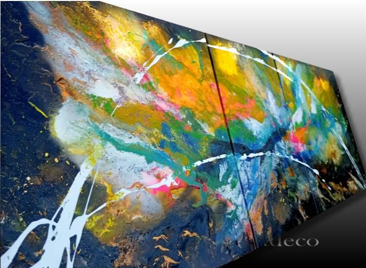 Tableau abstrait coloré moderne et unique