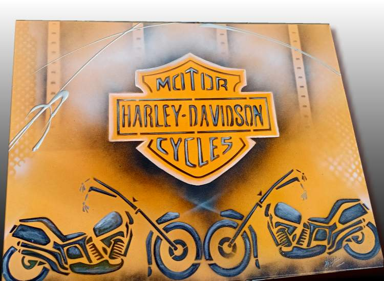 Peinture sur toile Harley