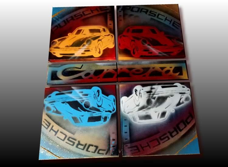 Tableau Porsche pop art