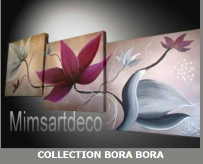 Tableaux collection bora bora