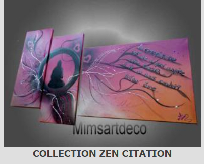 Tableaux collection zen citation