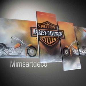 Tableau Harley Davidson Orange