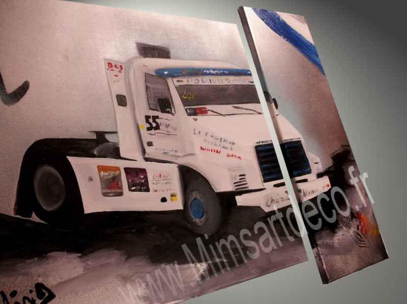 tableaux abstrait-camion cross